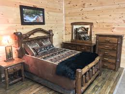Log Bed Pictures by Mountain Top Furniture