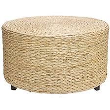 Table Ottoman Amazon Com Oriental Furniture Rush Grass Knotwork Coffee Table