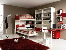 Red Bedroom For Boys Bedroom Cool Soccer Bedrooms For Boys Large Plywood Wall Decor