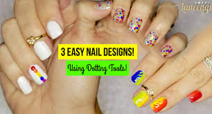 diy easy nail art for beginners 43 using a dotting tool