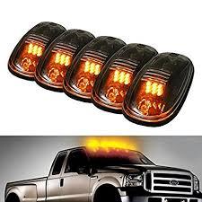 dodge ram clearance lights leaking amazon com 5pcs black smoked lens amber led cab roof marker lights