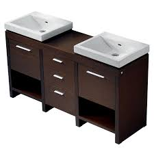 59 Bathroom Vanity by Shop Vigo Wenge Integrated Double Sink Bathroom Vanity With