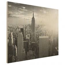 manhattan skyline wood print new york cityscape wall mural