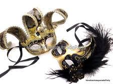masquerade masks for couples masquerade jolly jester ostrich feather pair mask birthday