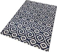 plastic woven rug in swedish traditional pattern practical