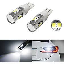 amazon led auto lights amazon com led white backup reverse light bulbs t10 30smd a automotive