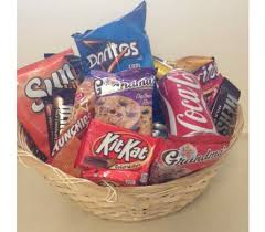 junk food basket curtis flowers florist flint michigan