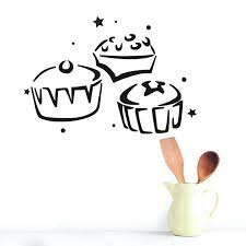 wall ideas cupcake kitchen wall art cupcake wall art cupcake three cupcake kitchen wall stickers waterproof home decor hollow out design removable diy vinyl sticker for