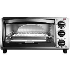 Toaster Oven With Auto Slide Out Rack Black U0026 Decker 4 Slice Toaster Oven Walmart Com