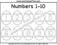 easter worksheets u2013 number chart 1 10 number chart pinterest