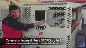 compresor ingersoll rand 375 jd 2010 youtube