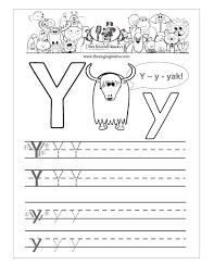 printable letter tracing worksheets free kindergarten alphabet worksheets letter y practice sheet