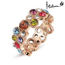 aliexpress buy brand tracyswing rings for women aliexpress buy brand tracyswing genuine austria gold