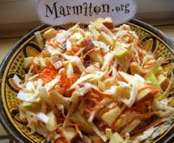 cuisiner du choux blanc salade au chou blanc et aux pommes recette de salade au chou blanc