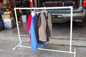 diy clothing storage diy pvc pipe portable clothes rack crafts and projects pinterest