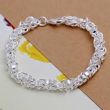 silver plated bracelet chain images Wholesale silver plated bracelet 925 fashion silver jewelry charm jpg