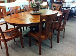 classic rustic dining room table sets with wooden flower vase and