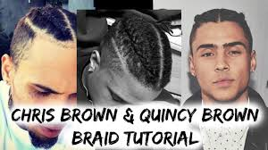 Chris Brown Fade Haircut How To Get Dutch Braids Chris Brown And Quincy Brown Braids