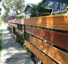 metal and wood fence curb appeal pinterest wood fences