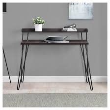 avalon l shaped corner desk cherry black altra target