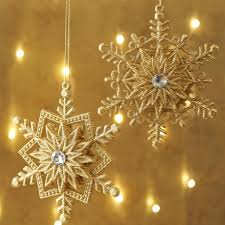 gold snowflake ornaments shelley b home and