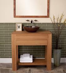 bamboo bathroom vanity asian with mirror contemporary tissue box