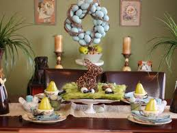 ceramic nature rabbit table l 15 easter table decorations and settings hgtv