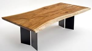 Natural Wood Computer Desk Rustic Dining Tables Rustic Contemporary Furniture Slab Wood
