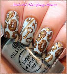 nail art stamping mania keys manicure with creative shop plate