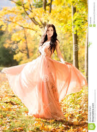 attractive beautiful woman nature autumn fall yellow leafs