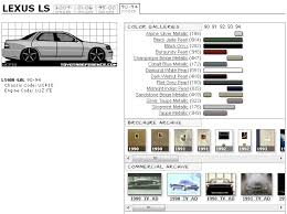 lexus paint colors lexus ls400 paint chart and media archive clublexus lexus