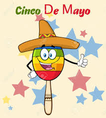 cartoon sombrero happy colorful mexican maracas cartoon mascot character with