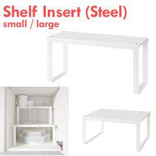 kitchen cabinet shelf insert organizer white small large ikea