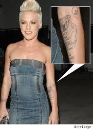 pink s arm tattoos popstartats