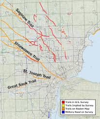 Detailed Map Of Michigan Detroit Urbanism Retracing Detroit U0027s Native American Trails