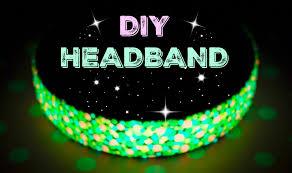 How to make glow in the dark headbandSummer DIYEasy projectsHair