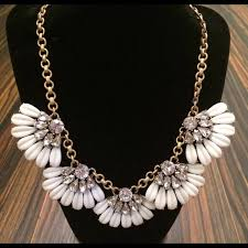statement necklace white images J crew jewelry nwt jcrew daisy petal white statement necklace jpg