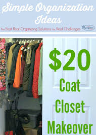 frugal coat closet makeover simple organization ideas