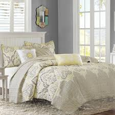 Queen Bed Coverlet Set Amazon Com Madison Park Mp13 1696 Nisha 6 Piece Quilted Coverlet