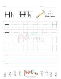 handwriting worksheet letter h kidspressmagazine com