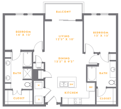 Fillmore Design Floor Plans One Two And Three Bedroom Apartments Floor Plans