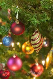 Traditional Christmas Decor Beautiful Traditional Christmas Decorations On An Illuminated