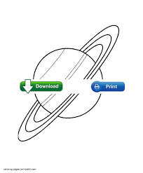 saturn colouring page for kids