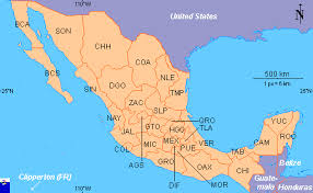 map of mexico with states clickable map of mexico