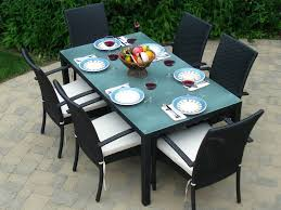 7 Pc Patio Dining Set - patio 22 patio dining set with umbrella