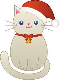 christmas kitty cat free clip art