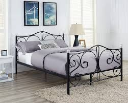 fascinating white iron double bed wrought frame metal argos uk