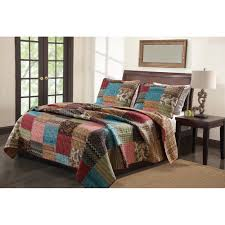Cotton Quilted Bedspread Brown Quilts
