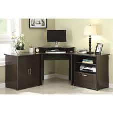 furniture custom corner butcher block computer desk with black