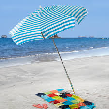 Black And White Striped Patio Umbrella by Destinationgear 6 Ft Aluminum Cabana Stripe Beach Umbrella